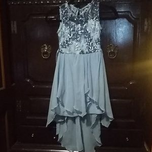 Rare editions floral sequin  girls dress